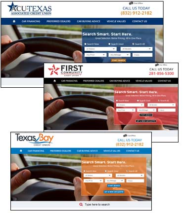 screenchot of branded website